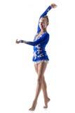 Жизнерадостные танцы девушки балерины Стоковое Фото