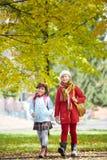 Жизнерадостные школьницы Стоковое фото RF