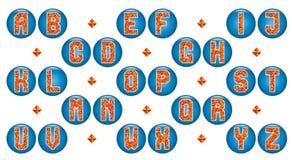 Жизнерадостный алфавит триангулярных мозаик Стоковые Изображения RF