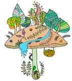 Жизнерадостный гриб Стоковые Изображения