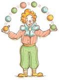 жизнерадостный клоун Стоковая Фотография RF