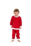 Жизнерадостный малыш в costume santa Стоковые Фото