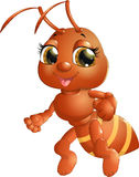 Жизнерадостный муравей на предпосылке Стоковое Изображение RF