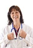 Жизнерадостный доктор Isolated На Бел Стоковые Фотографии RF