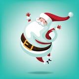 Жизнерадостный перескакивать Санта бесплатная иллюстрация
