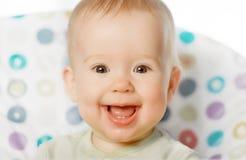 Жизнерадостный счастливый усмехаться младенца Стоковое Изображение RF