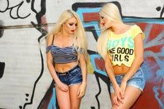 2 жизнерадостных блондинкы Стоковые Фотографии RF