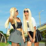 2 жизнерадостных блондинкы Стоковые Изображения