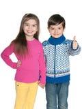 2 жизнерадостных дет моды Стоковое Фото