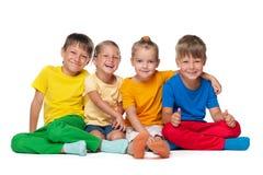 4 жизнерадостных дет Стоковое фото RF