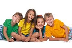 4 жизнерадостных дет Стоковое Изображение RF