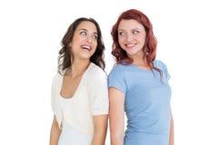 2 жизнерадостных молодых женских друз Стоковые Изображения
