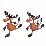 2 жизнерадостных оленя Стоковое Изображение RF