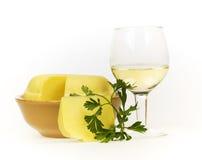 жизни вино все еще белое Стоковая Фотография