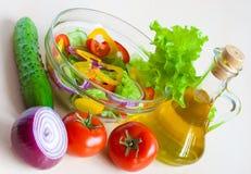 жизни масла салата овощи все еще стоковое фото rf