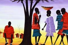 жизнь Африки сельская Стоковая Фотография RF