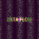 Жизнь визуализирования в фиолетовых данных по потока вектор Тайнопись, Bitcoin, рубя, информация Программный код машины иллюстрация вектора