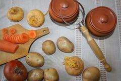 1 жизнь все еще Сбор овощей разнообразия свежих Стоковые Изображения RF