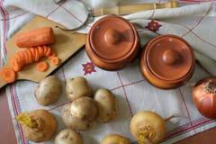1 жизнь все еще Сбор овощей разнообразия свежих Стоковая Фотография