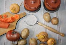 1 жизнь все еще Сбор овощей разнообразия свежих Стоковое фото RF