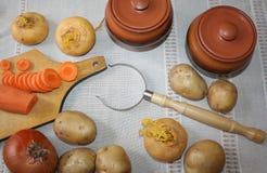 1 жизнь все еще Сбор овощей разнообразия свежих Стоковые Фотографии RF