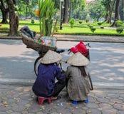 Жизнь въетнамских поставщиков в Сайгоне Стоковые Изображения