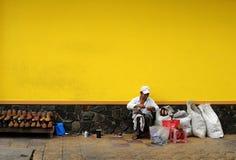 Жизнь въетнамских поставщиков в Сайгоне Стоковое Изображение RF