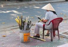 Жизнь въетнамских поставщиков в Сайгоне Стоковая Фотография