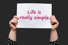 Жизнь действительно проста стоковые изображения rf