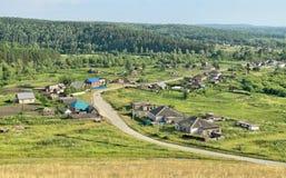 Жизнь деревни в глубинах Сибиря Стоковое фото RF