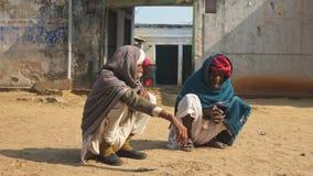 Жизнь деревни, сельский Раджастхан, Индия Стоковые Фото