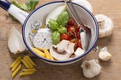 жизнь еды итальянская все еще Стоковое Фото