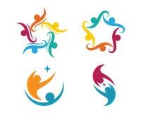 Жизнь здоровья и логотип потехи Стоковая Фотография