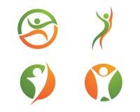 Жизнь здоровья и логотип потехи Стоковое Фото