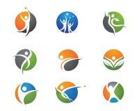 Жизнь здоровья и логотип потехи Стоковая Фотография RF