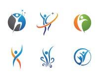 Жизнь здоровья и логотип потехи Стоковое фото RF