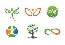 Жизнь здоровья и логотип потехи Стоковое Изображение