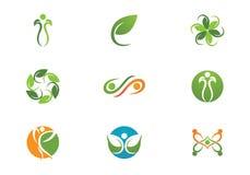 Жизнь здоровья и логотип потехи Стоковые Фотографии RF