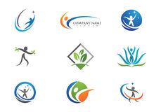 Жизнь здоровья и логотип потехи Стоковые Изображения