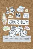 Жизнь дизайн цитаты путешествием вдохновляющий Стоковые Изображения