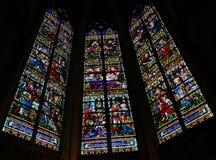 Жизнь Иосиф - цветного стекла в соборе Mechelen стоковые изображения