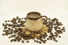 жизнь кофейной чашки все еще Стоковые Изображения RF