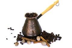 жизнь кофе cezve все еще Стоковые Фотографии RF