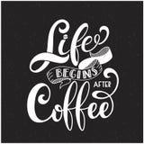 Жизнь начинает после кофе бесплатная иллюстрация