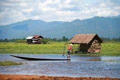 Жизнь на озере Inle, Бирме (Myanmar) Стоковые Изображения RF