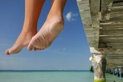 жизнь ног пляжа стоковые изображения
