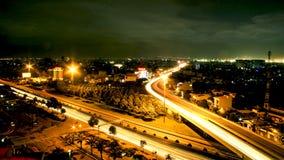 жизнь ночи города, города Азии стоковое изображение rf