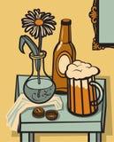 жизнь пива все еще Стоковое Фото