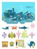 Жизнь под иллюстрацией воды Иллюстрация штока
