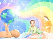 жизнь принципиальной схемы младенца Стоковое Фото